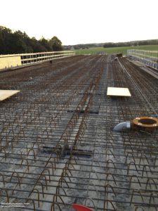 Brücke über A9, ca. 1200 Bügel verschweißen, Betonstahlschweissen R. Zienert
