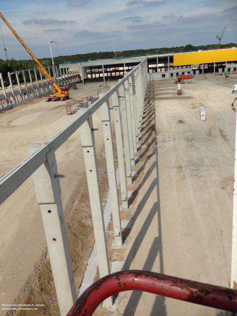 DHL, Schweißarbeiten Neubau für Bremer Bau, Betonstahlschweissen R. Zienert